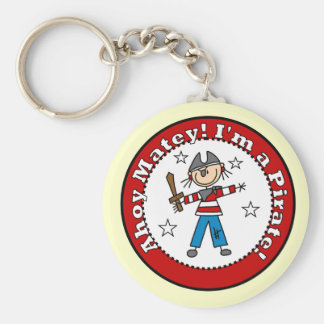 Pirate Tshirts and Gifts Basic Round Button Key Ring