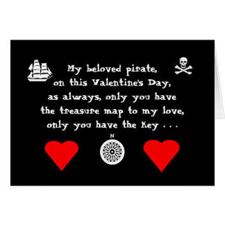 Pirate Valentine's Day Card