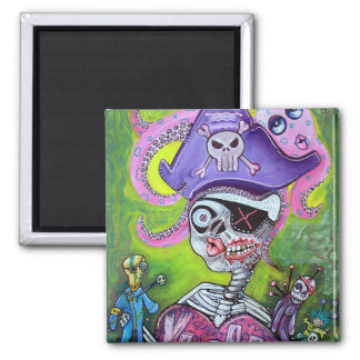 Pirate Voodoo Square Magnet