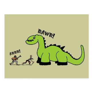 Pirate vs Dinosaur Post Cards