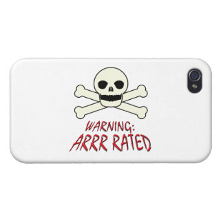 Pirate Warning - Arrr Rated iPhone 4 Covers