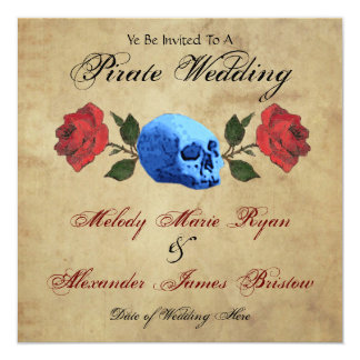 Pirate Wedding Card