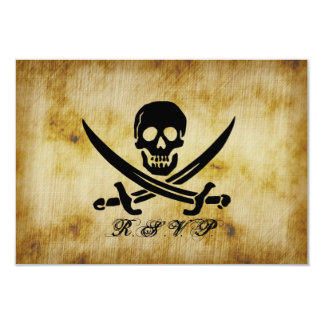 Pirate Wedding RSVP Response Card 9 Cm X 13 Cm Invitation Card