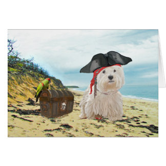 Pirate Westie Greeting Card