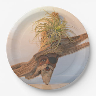 Pirate With Air Plant Paper Plate