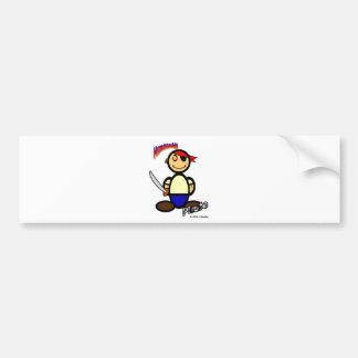 Pirate (with logos) bumper sticker