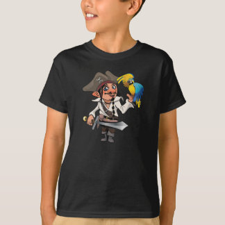 Pirate with parrot and sword T-Shirt