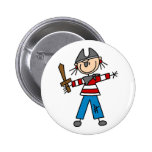 Pirate With Sword Button