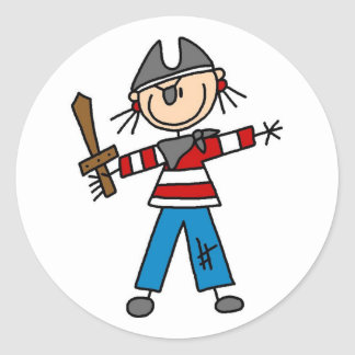 Pirate With Sword Sticker