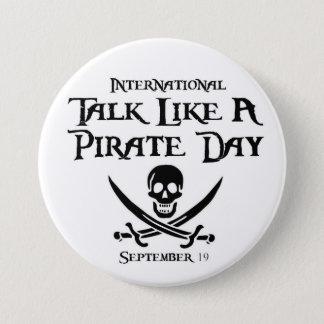 PirateDayButton 7.5 Cm Round Badge