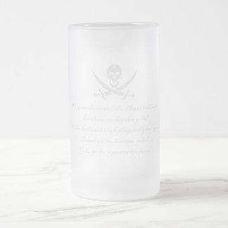 PirateLife,GlassSteinMug Frosted Glass Beer Mug