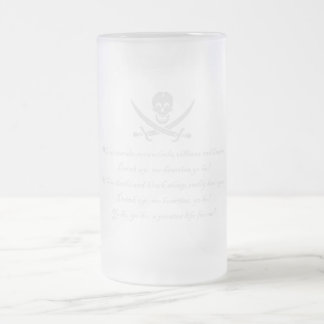 PirateLife,GlassSteinMug Frosted Glass Mug