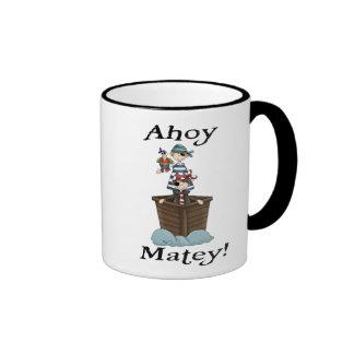 Pirates Ahoy Matey Mugs