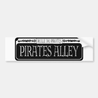 Pirates Alley Metal Sign Bumper Sticker