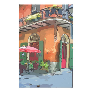 Pirates Alley New Orleans Customized Stationery