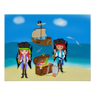 Pirates and Treasure Poster