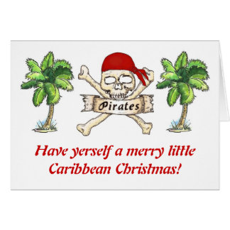 Pirate's Caribbean Christmas Greeting Card