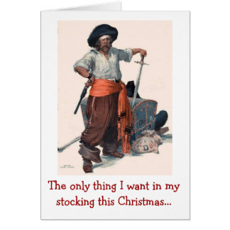 Pirate's Christmas Wish Greeting Card