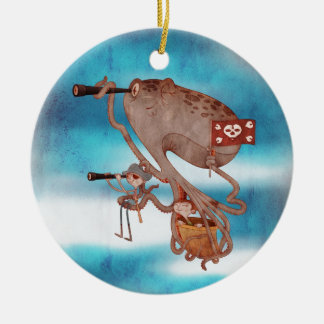 Pirates. Imagination and fantasy, cute and lovely. Christmas Ornament