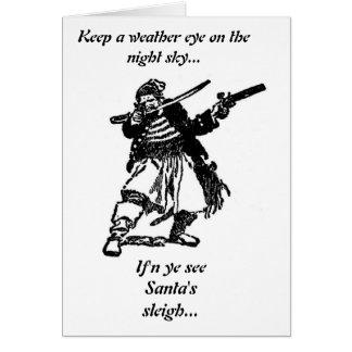 Pirates Loot Santa s Sleigh Greeting Card