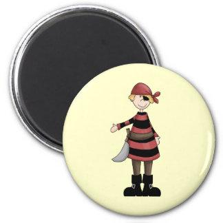 Pirates Mate 6 Cm Round Magnet