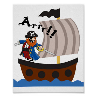 Pirates nursery poster
