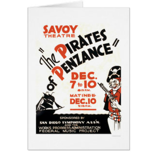 Pirates Of Penzance 1938 WPA Greeting Card
