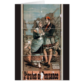 Pirates of Penzance Vintage Theater Card