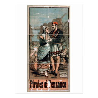 Pirates of Penzance Vintage Theater Postcard
