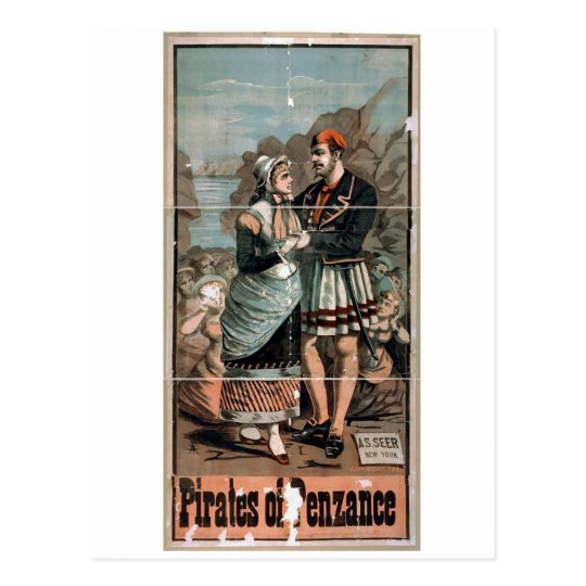 Pirates of Penzance Vintage Theatre Postcard