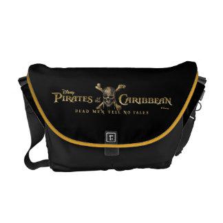 Pirates of the Caribbean 5 Skull Logo Messenger Bag