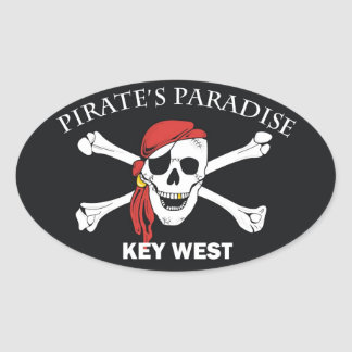 Pirates Paradise Oval Sticker
