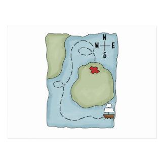 Pirates · Pirate Map Postcard