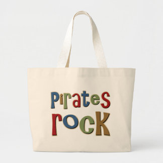 Pirates Rock Large Tote Bag
