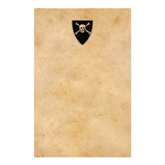 Pirates sign on old parchment stationery