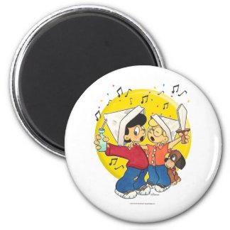 Pirates Singing 6 Cm Round Magnet