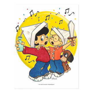 Pirates Singing Post Cards