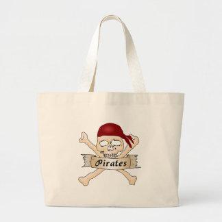 Pirates Skull and Crossbones Tote Bags