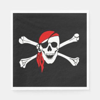 Pirate's Skull and Crossbones Paper Serviettes