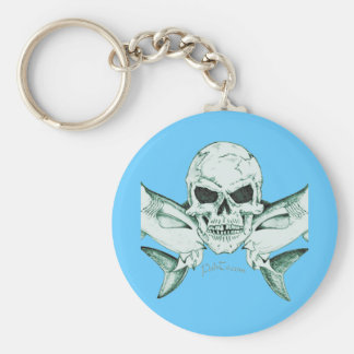 Pirates Skulls Collection by FishTs com Key Chain