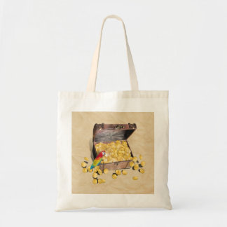 Pirate's Treasure Chest on Crinkle Paper Budget Tote Bag