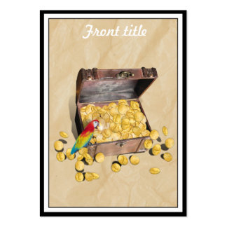 Pirate's Treasure Chest on Crinkle Paper Large Business Cards (Pack Of 100)