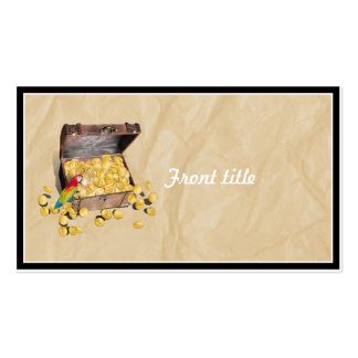 Pirate's Treasure Chest on Crinkle Paper Double-Sided Standard Business Cards (Pack Of 100)