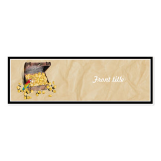 Pirate's Treasure Chest on Crinkle Paper Pack Of Skinny Business Cards