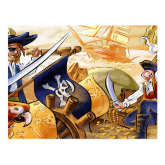 Pirates & Treasure Postcard