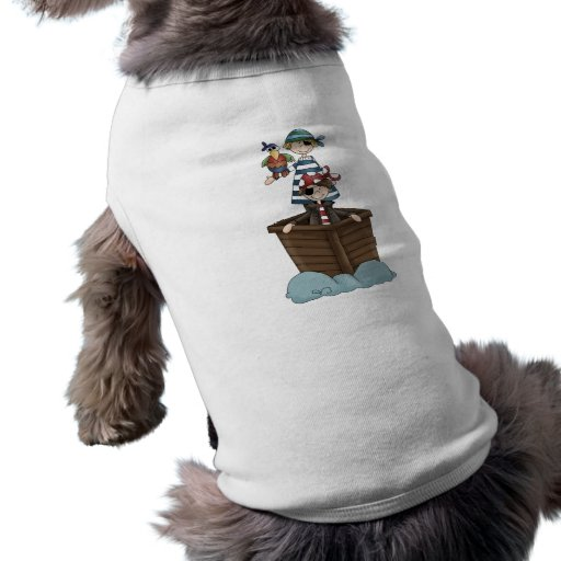 Pirates · Two Pirates in a Boat Sleeveless Dog Shirt