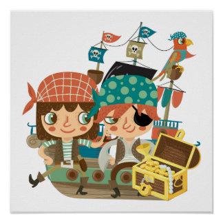 Pirates With Treasure Print