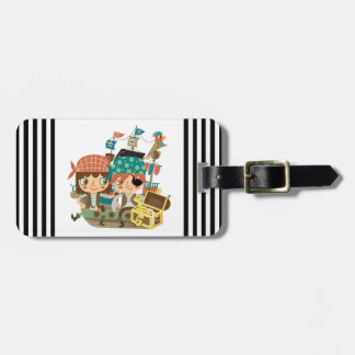 Pirates With Treasure Travel Bag Tag