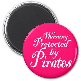 PirateWarning,Magnet 6 Cm Round Magnet