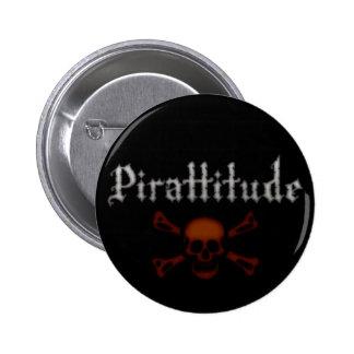Pirattitude Blood Jolly Roger 6 Cm Round Badge